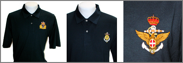 Embroidered Naval Crest Polo Shirts