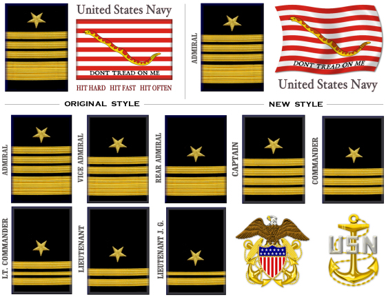 USN First Navy Jack Rank Mugs