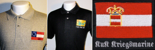 Embroidered Naval Ensign Polo Shirts